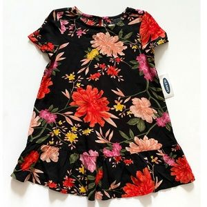NWT Old Navy Floral Print Swing Dress Size 2T